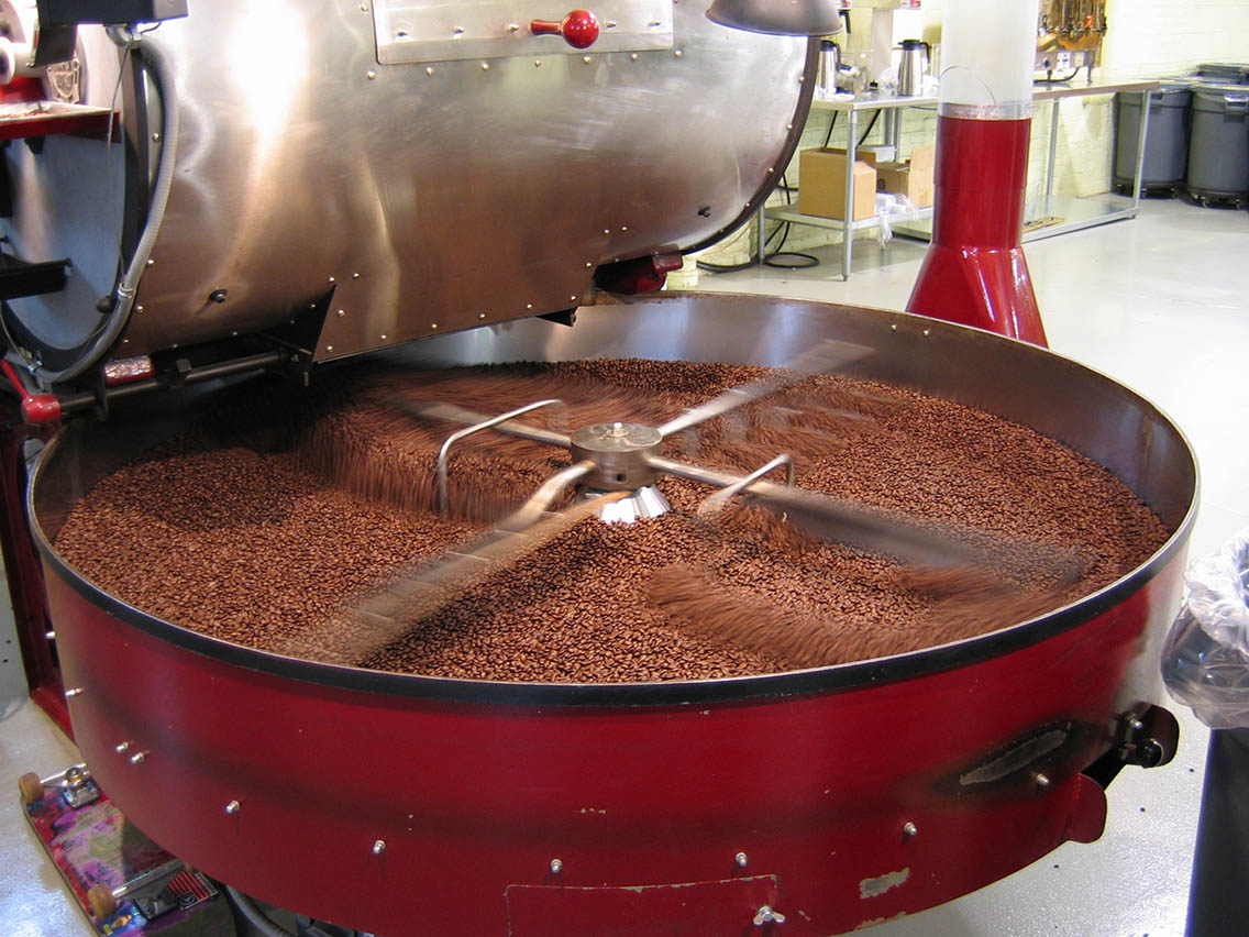A coffee roasting operation